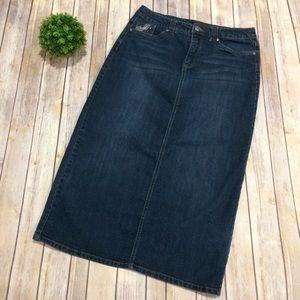 Christopher & Banks | Dark Denim Jean Skirt Size 6